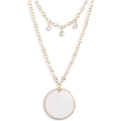 Ettika Multistrand Disc Pendant Necklace