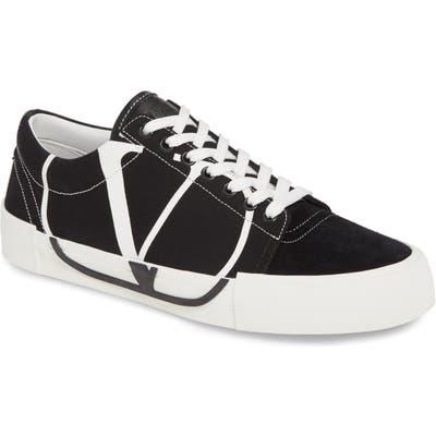 Valentino Garavani Go Logo Low Top Sneaker, Black