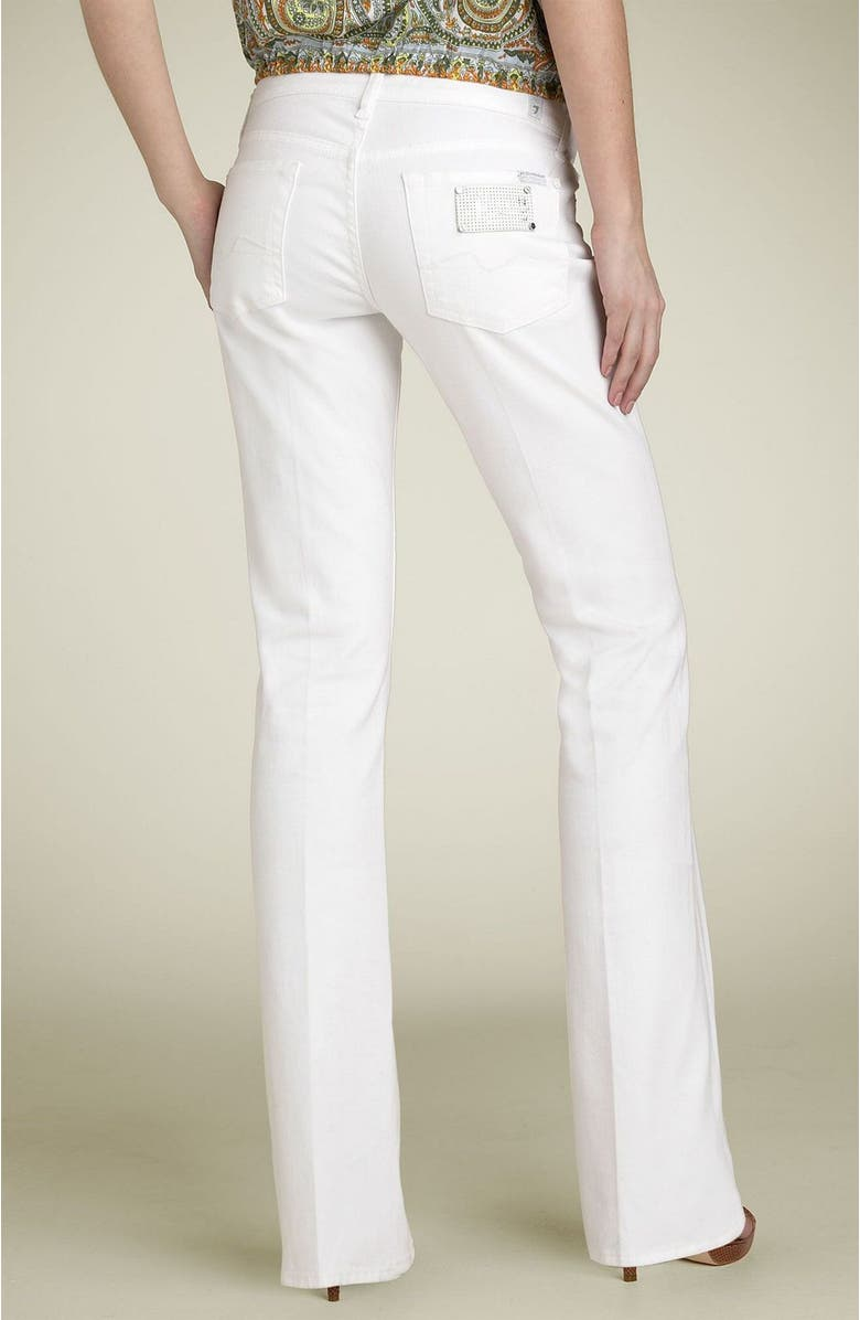 7 FOR ALL MANKIND<SUP>®</SUP> White Stretch Bootcut Jeans, Main, color, EGH