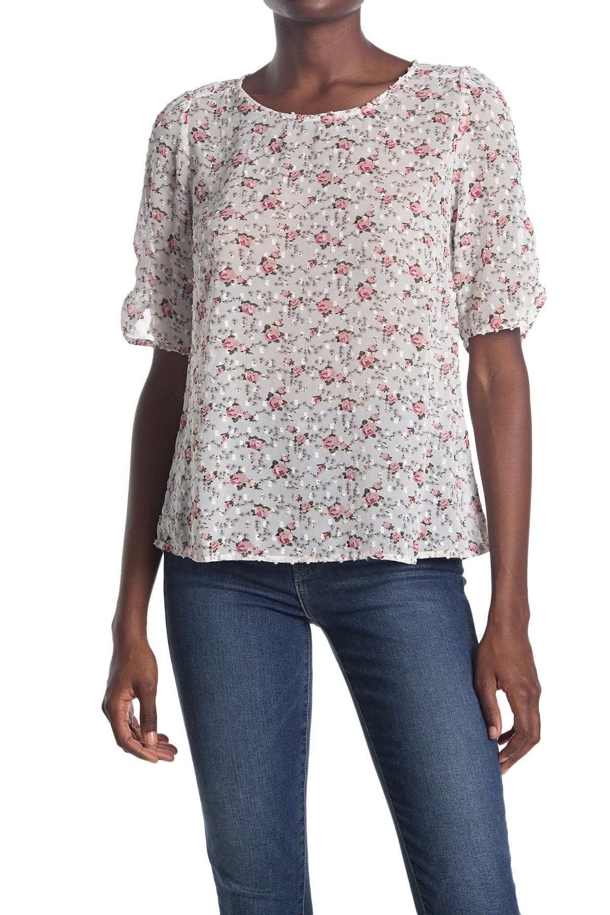 Image of ECLAIR Floral Shirred Puff Sleeve Top