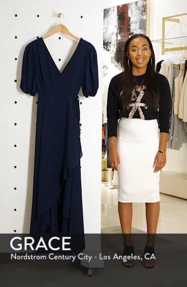 V-Neck Georgette Wrap Gown, sales video thumbnail