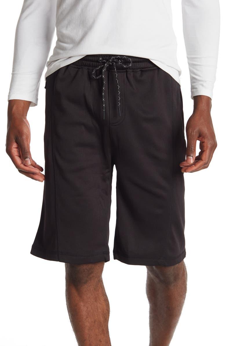 BURNSIDE Fleece Shorts, Main, color, BLACK