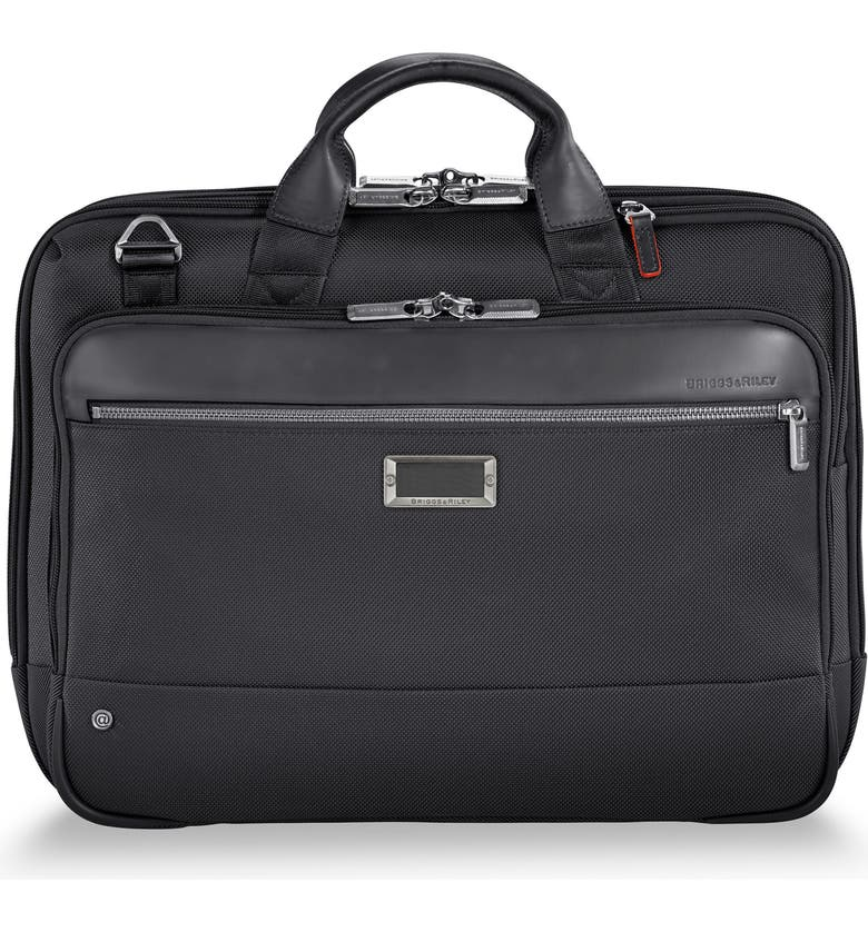 BRIGGS & RILEY @work Medium Briefcase, Main, color, BLACK