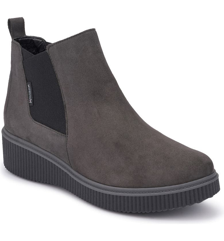 MEPHISTO Emie Bootie, Main, color, GREY SUEDE
