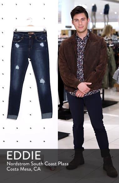Ripped Step Hem Skinny Jeans, sales video thumbnail
