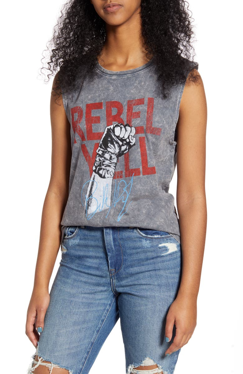 PRINCE PETER Billy Idol Rebel Yell Muscle Tank, Main, color, 020