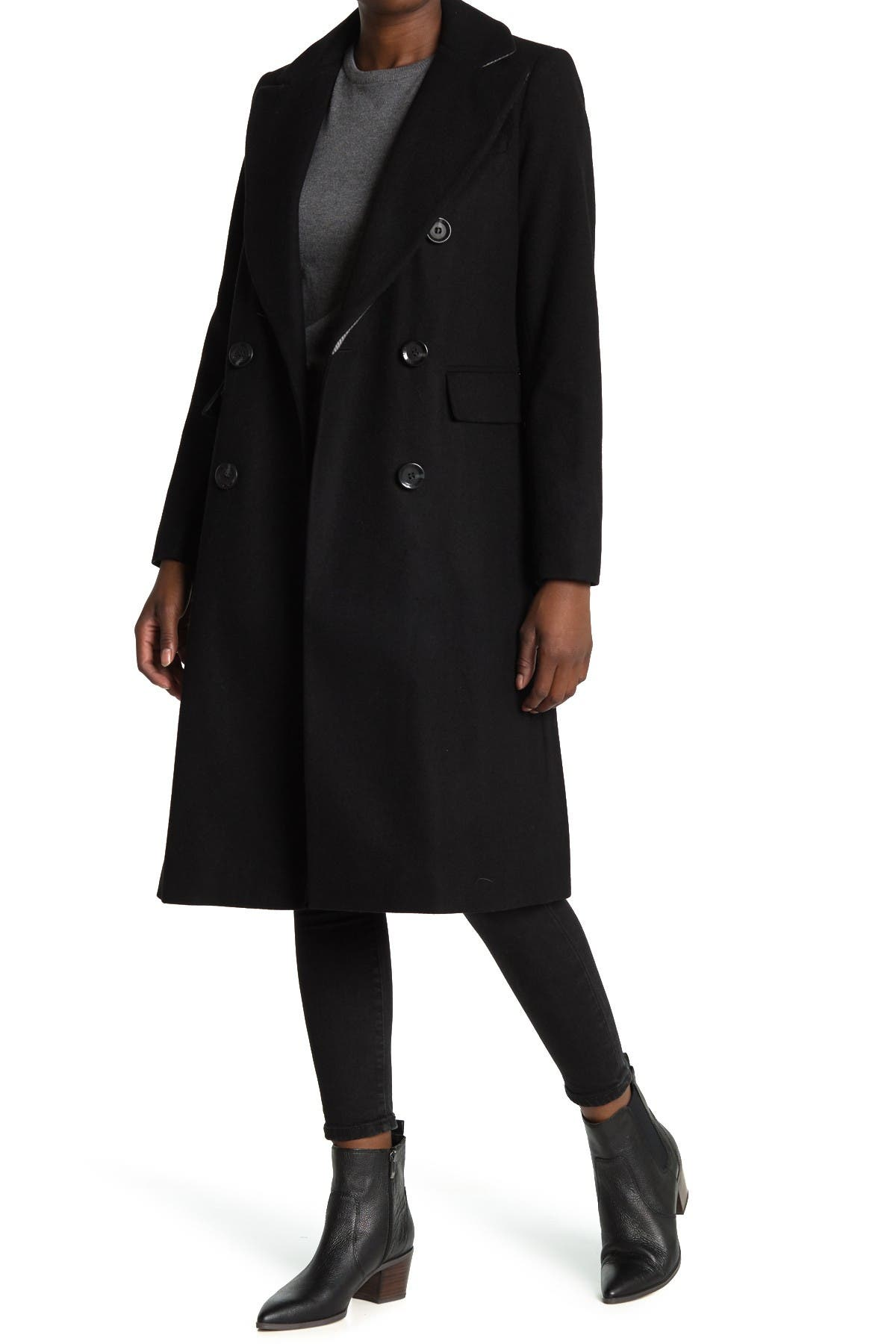 Image of Sam Edelman Double Breasted Long Coat