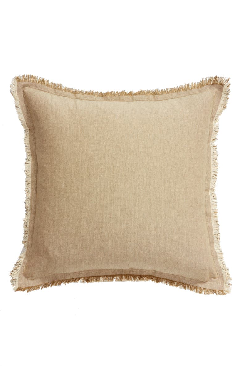 NORDSTROM AT HOME Fringe Border Accent Pillow, Main, color, 900