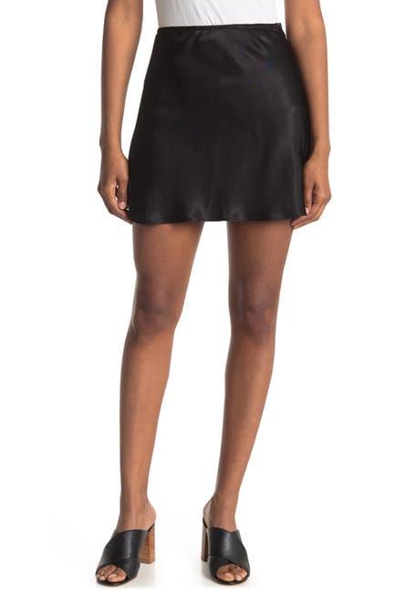 Image of Elodie Satin Mini Skirt