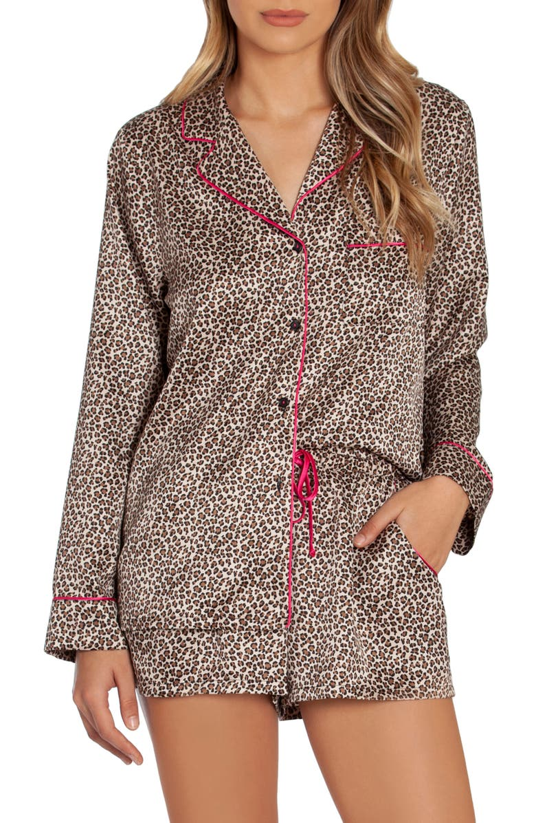 IN BLOOM BY JONQUIL Girls Night Short Pajamas, Main, color, ANIMAL-NATURAL