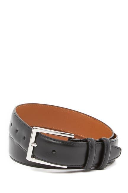 Image of Nordstrom Basic Solid Edge Stitch Leather Belt