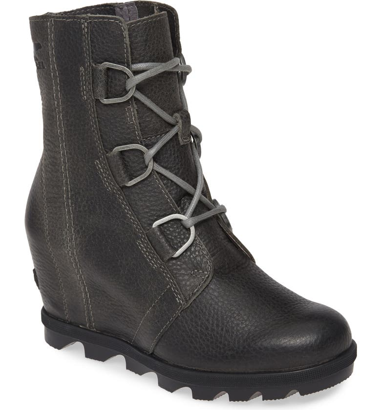 SOREL Joan of Arctic II Waterproof Wedge Boot, Main, color, QUARRY LEATHER