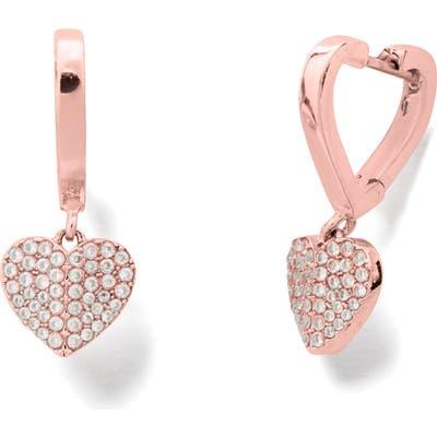 Kate Spade New York Heart To Heart Pave Huggie Hoop Earrings
