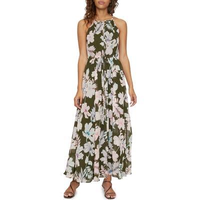 Sanctuary Big Flirt Floral Print Maxi Dress, Green