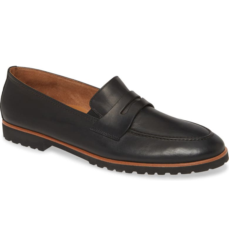 PAUL GREEN Becca Loafer, Main, color, BLACK LEATHER