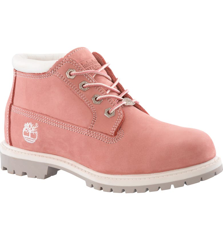 TIMBERLAND Nellie Waterproof Chukka Boot, Main, color, PINK NUBUCK LEATHER