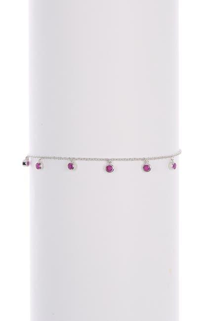 Image of LaFonn July Birthstone Sterling Silver Ruby Bracelet