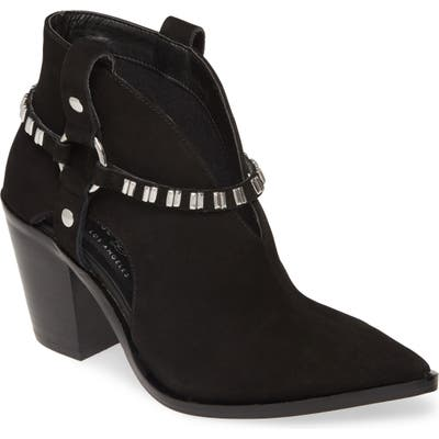 Chinese Laundry Tabby Studded Western Bootie- Black