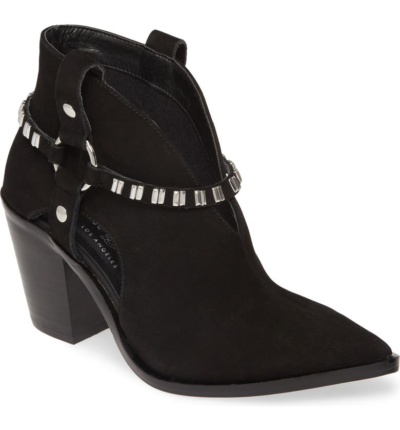CHINESE LAUNDRY Tabby Studded Western Bootie, Main, color, BLACK LEATHER