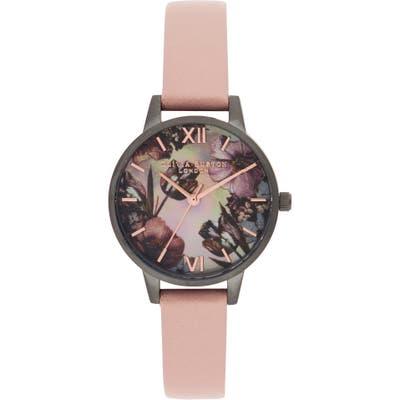 Olivia Burton Twilight Leather Strap Watch, 30Mm