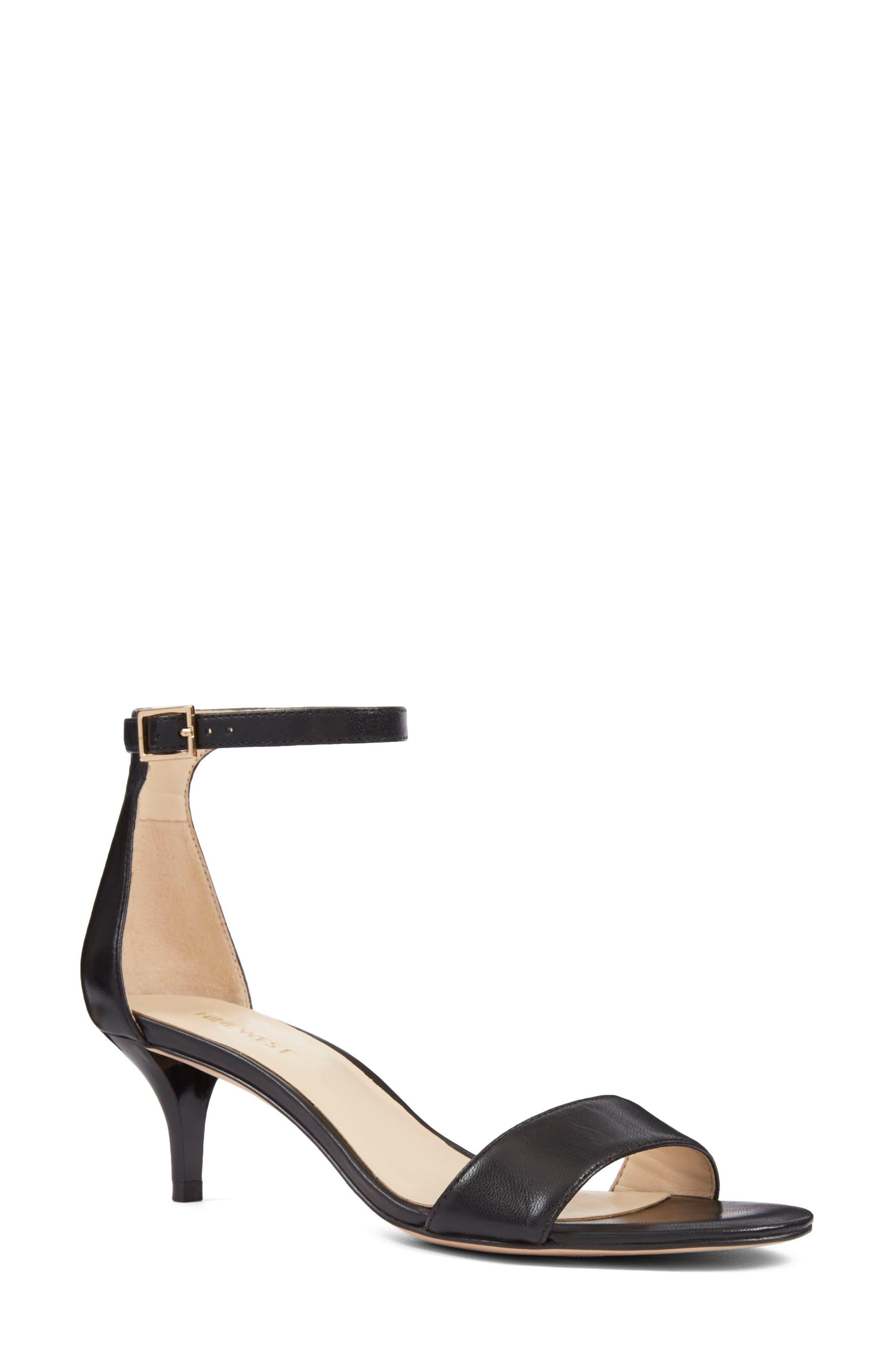50c89132909a Nine West 'Leisa' Ankle Strap Sandal- Black