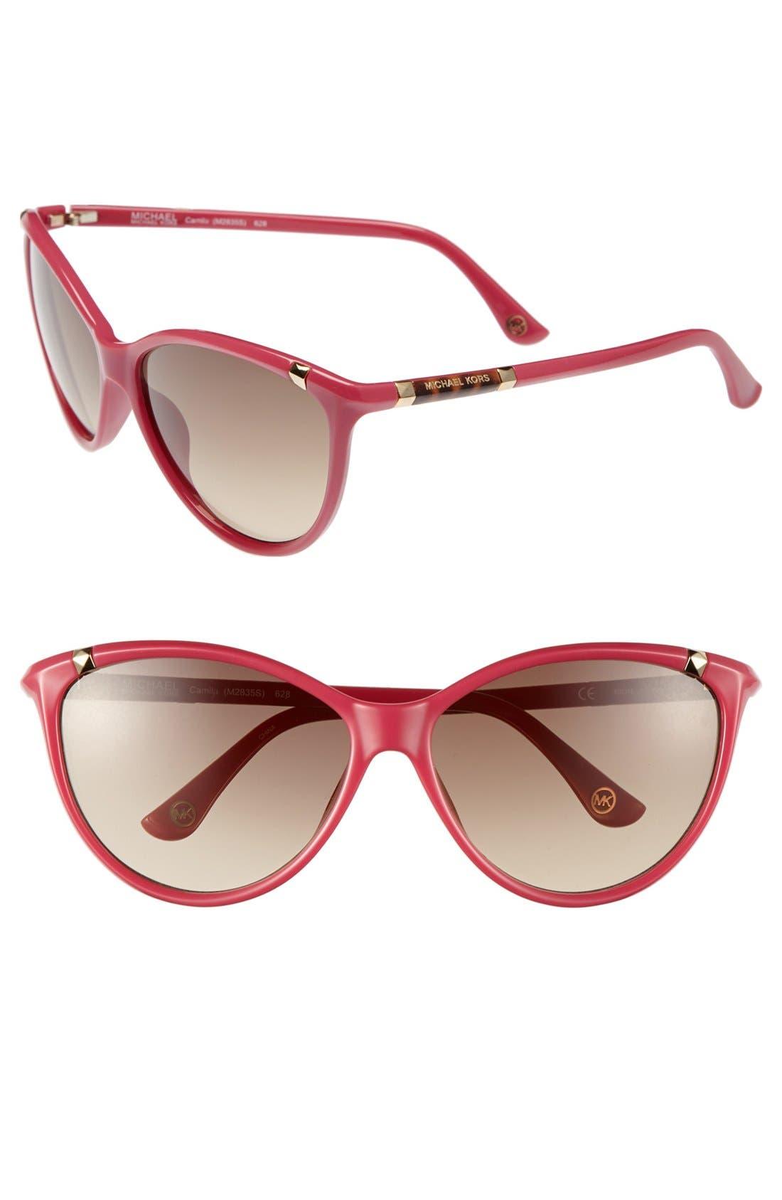 ,                             'Camila' 60mm Sunglasses,                             Main thumbnail 9, color,                             650
