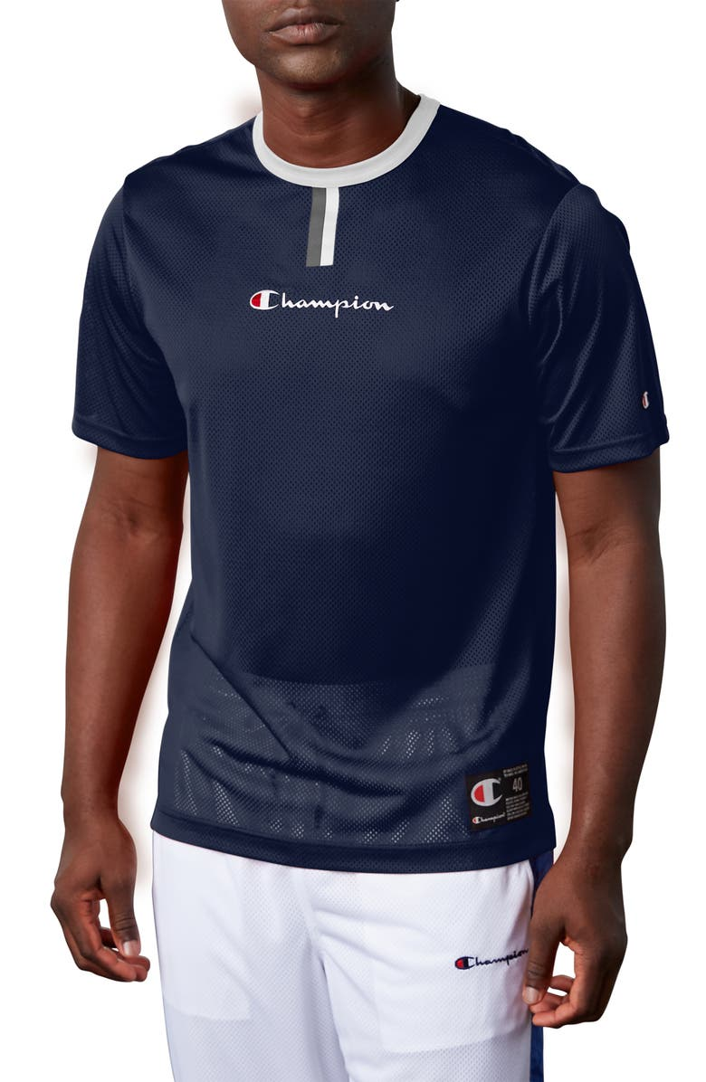 CHAMPION Mesh T-Shirt, Main, color, 400