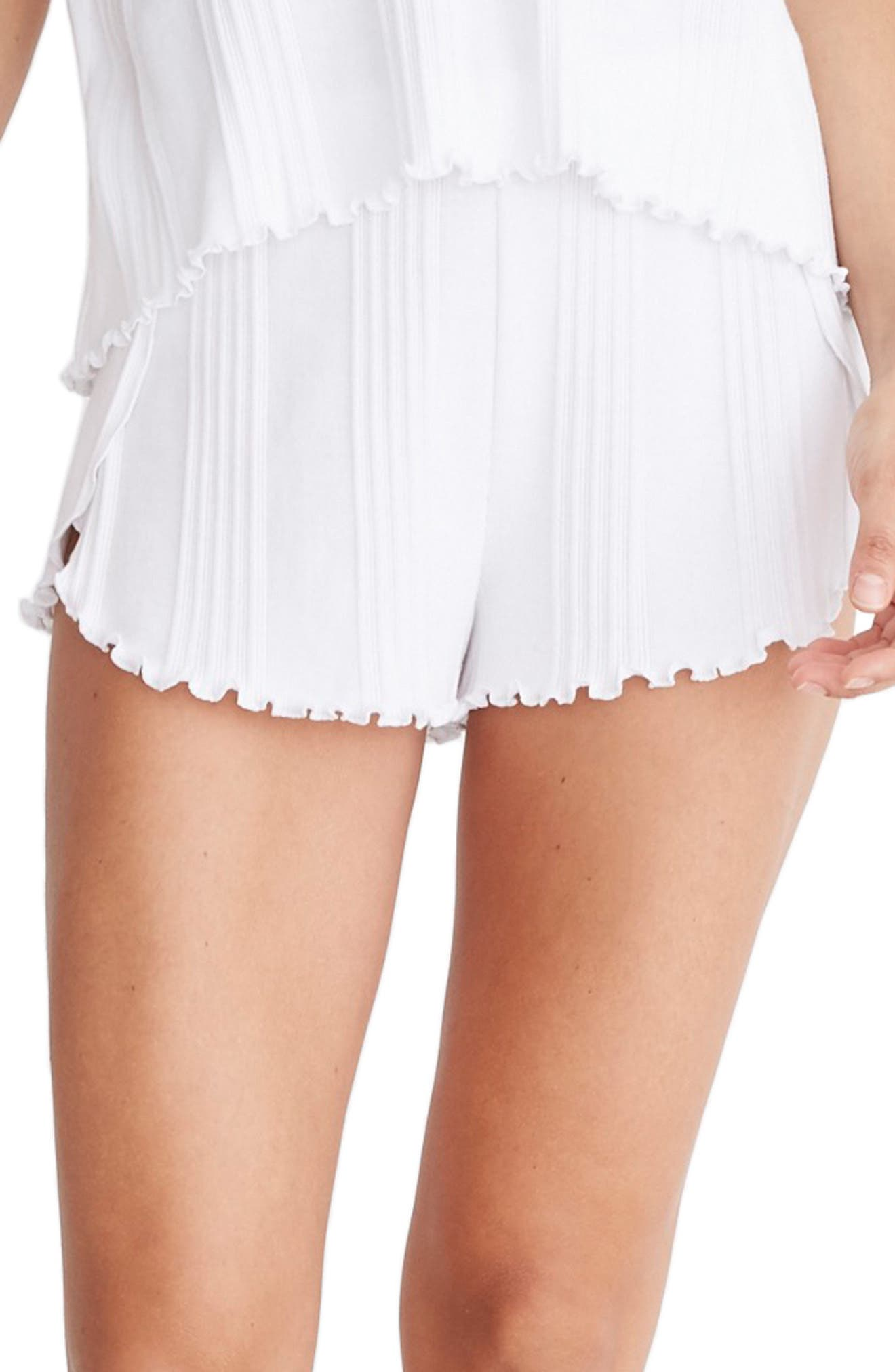 Madewell Ribbed Knit Pajama Shorts, White