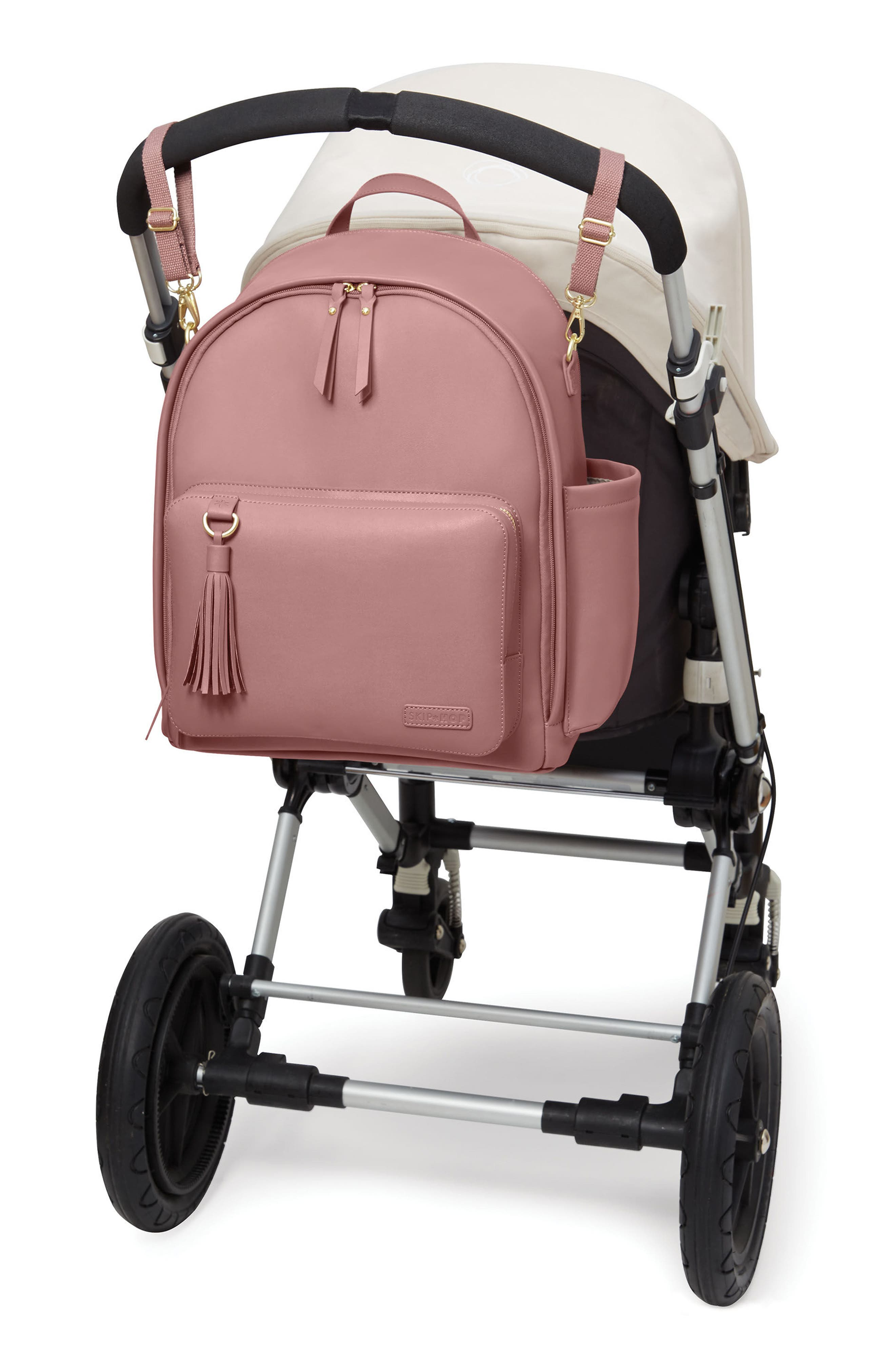 ,                             Greenwich Simply Chic Diaper Backpack,                             Alternate thumbnail 6, color,                             DUSTY ROSE