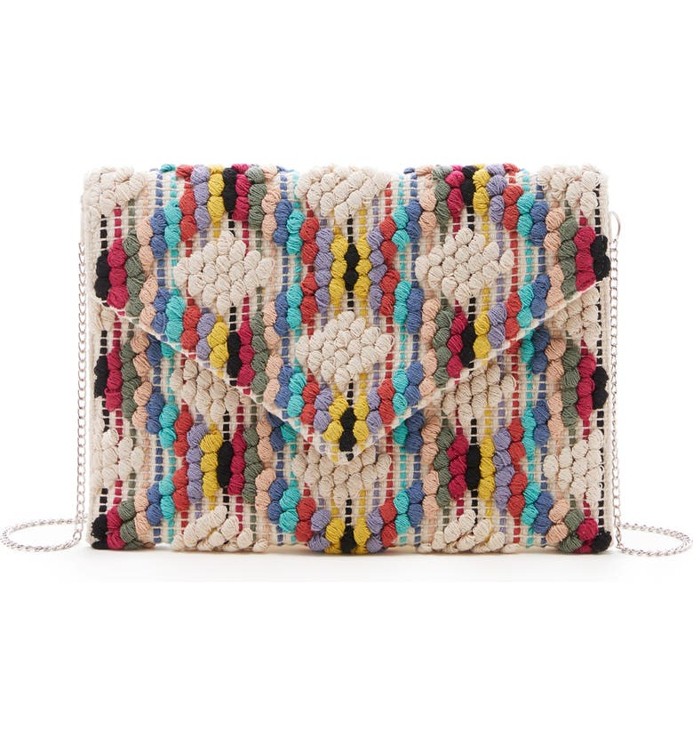 SOLE SOCIETY Jaam Woven Clutch, Main, color, 255