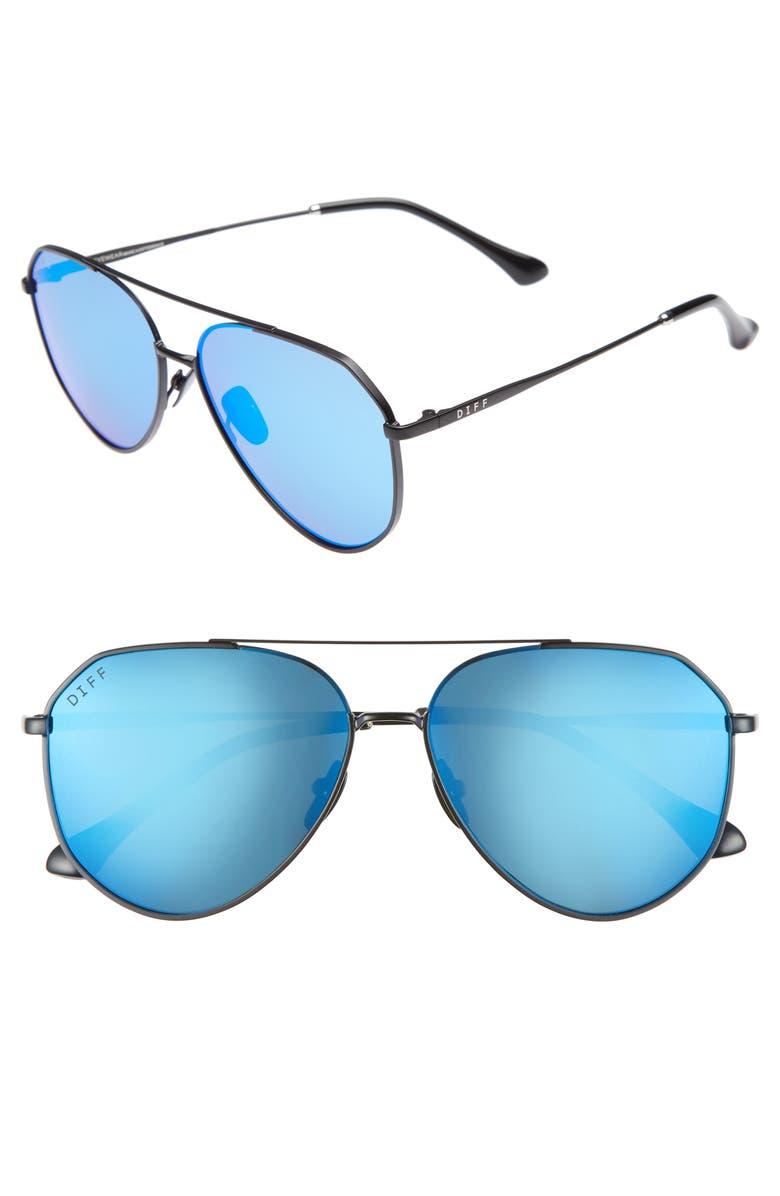 DIFF Dash 58mm Aviator Sunglasses, Main, color, 003
