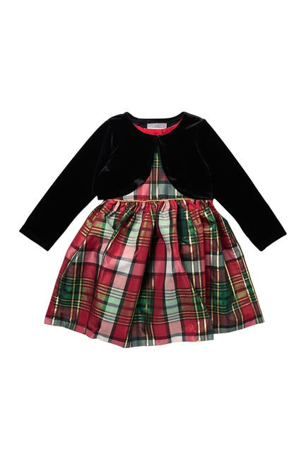 Image of Pastourelle by Pippa and Julie Jacket & Plaid Dress