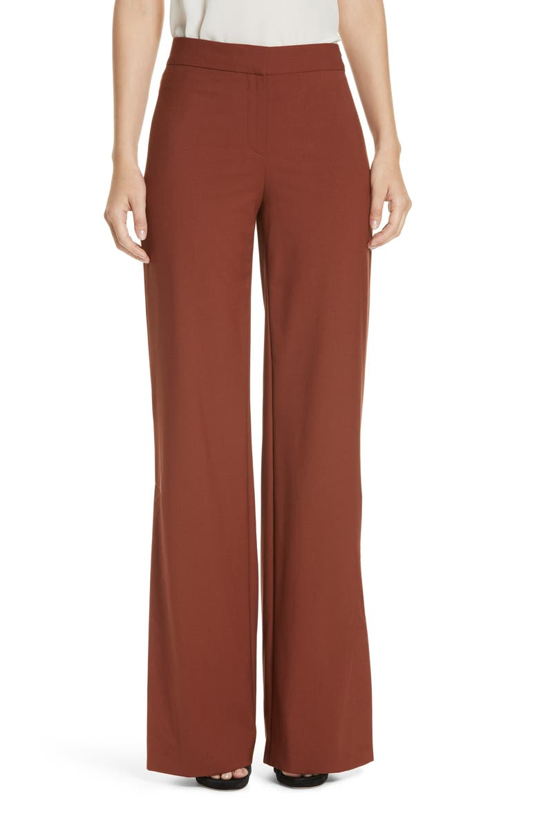 THEORY Good Stretch Wool Slit Wide Leg Pants, Main, color, 230