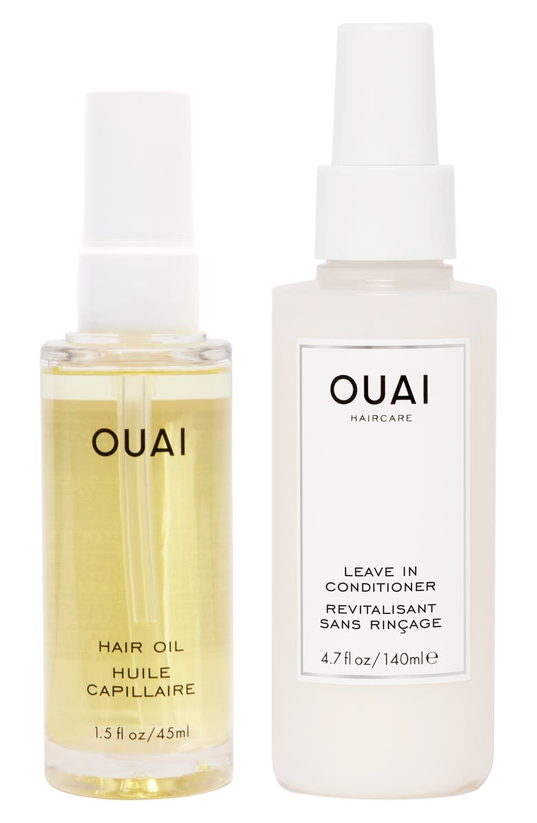 OUAI Thirsty Hair Oil & Leave-In Conditioner Kit, Main, color, NO COLOR