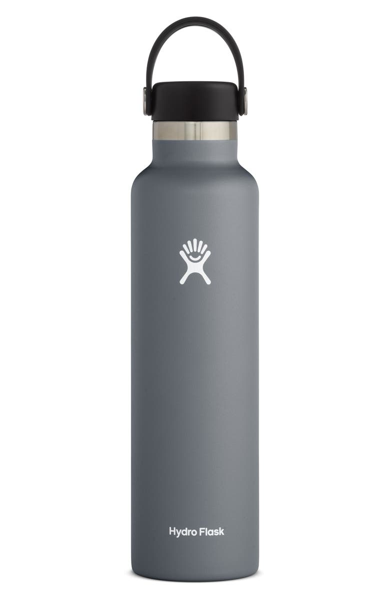 HYDRO FLASK 24-Ounce Standard Mouth Bottle, Main, color, STONE