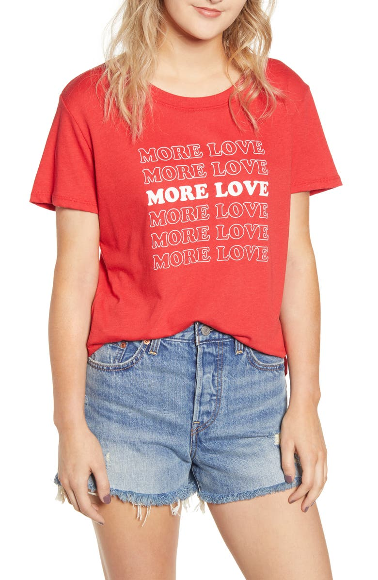 SUB_URBAN RIOT More Love Slouched Tee, Main, color, CHERRY