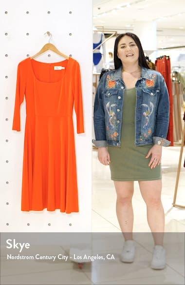 Square Neck Fit & Flare Dress, sales video thumbnail