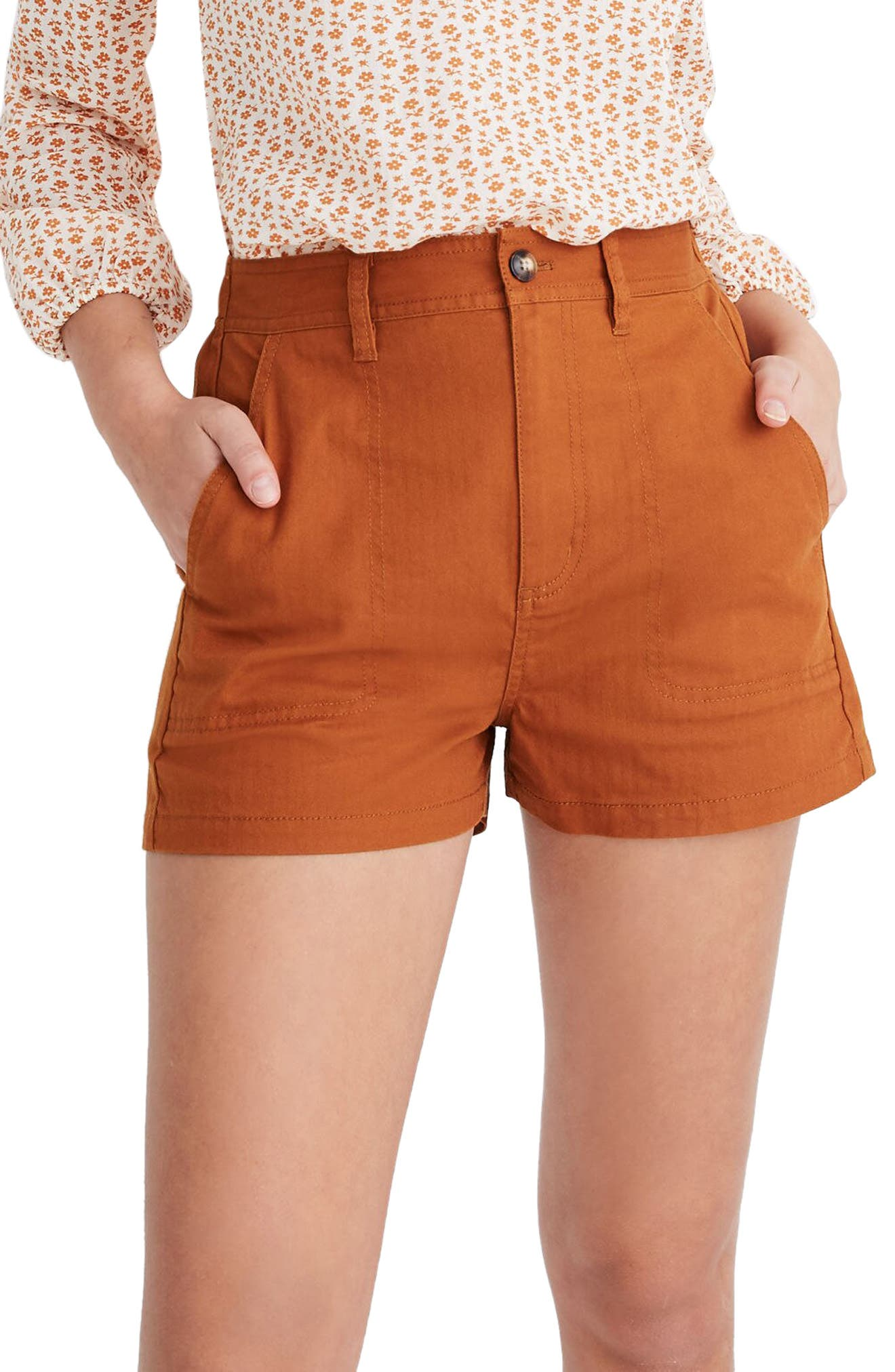 Vintage High Waisted Shorts, Sailor Shorts, Retro Shorts Womens Madewell Camp Shorts $34.65 AT vintagedancer.com