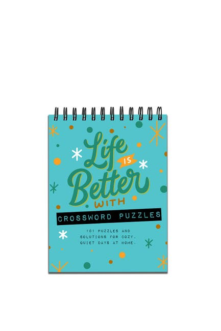 Image of TF Publishing Life is Better with Crossword Puzzles Book Spiral Puzzle Pad - Pack of 2