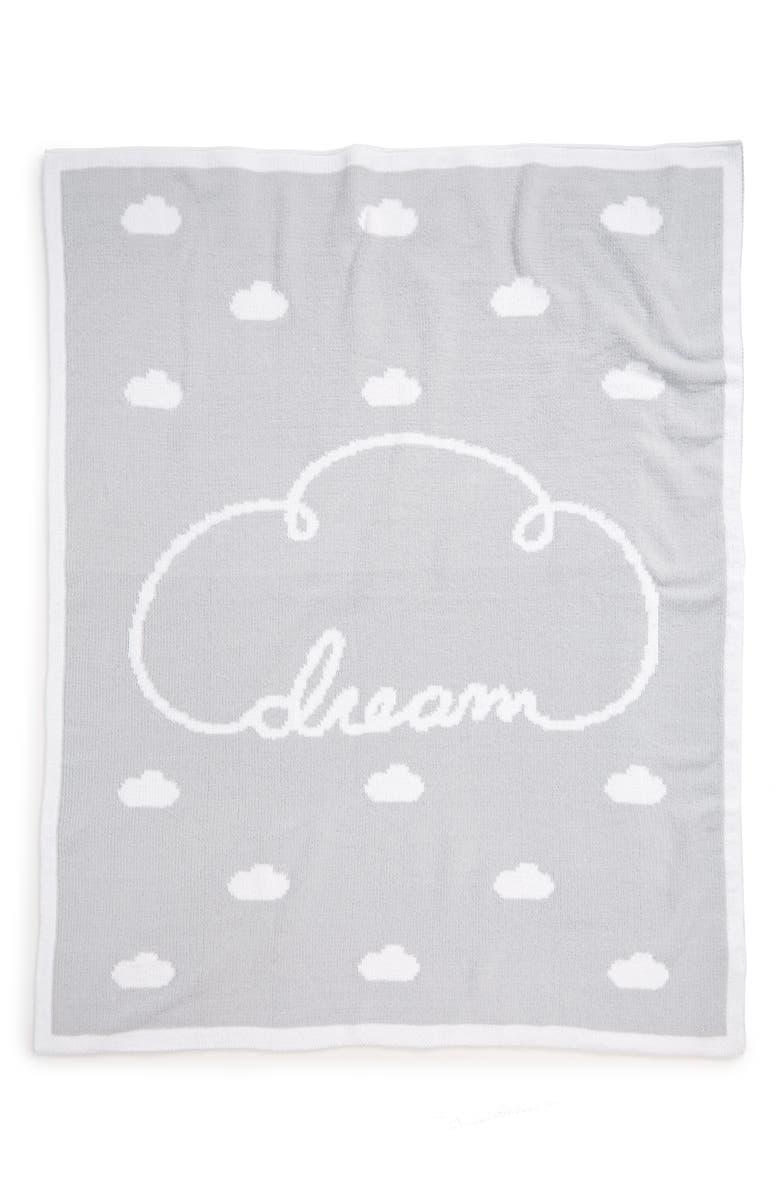 NORDSTROM BABY Chenille Blanket, Main, color, WHITE- GREY DREAM