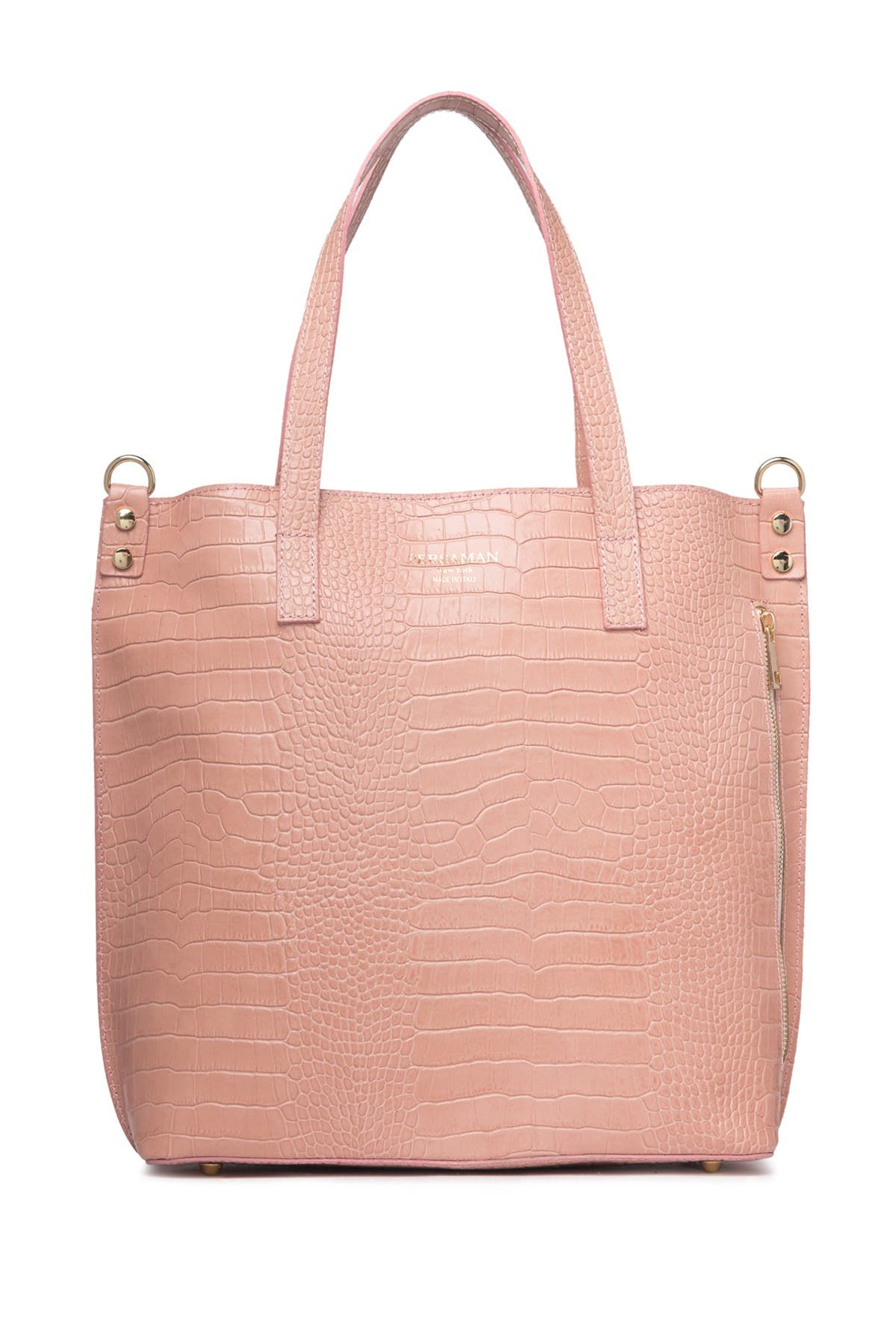 Image of Persaman New York Adeline Embossed Leather Shoulder Bag