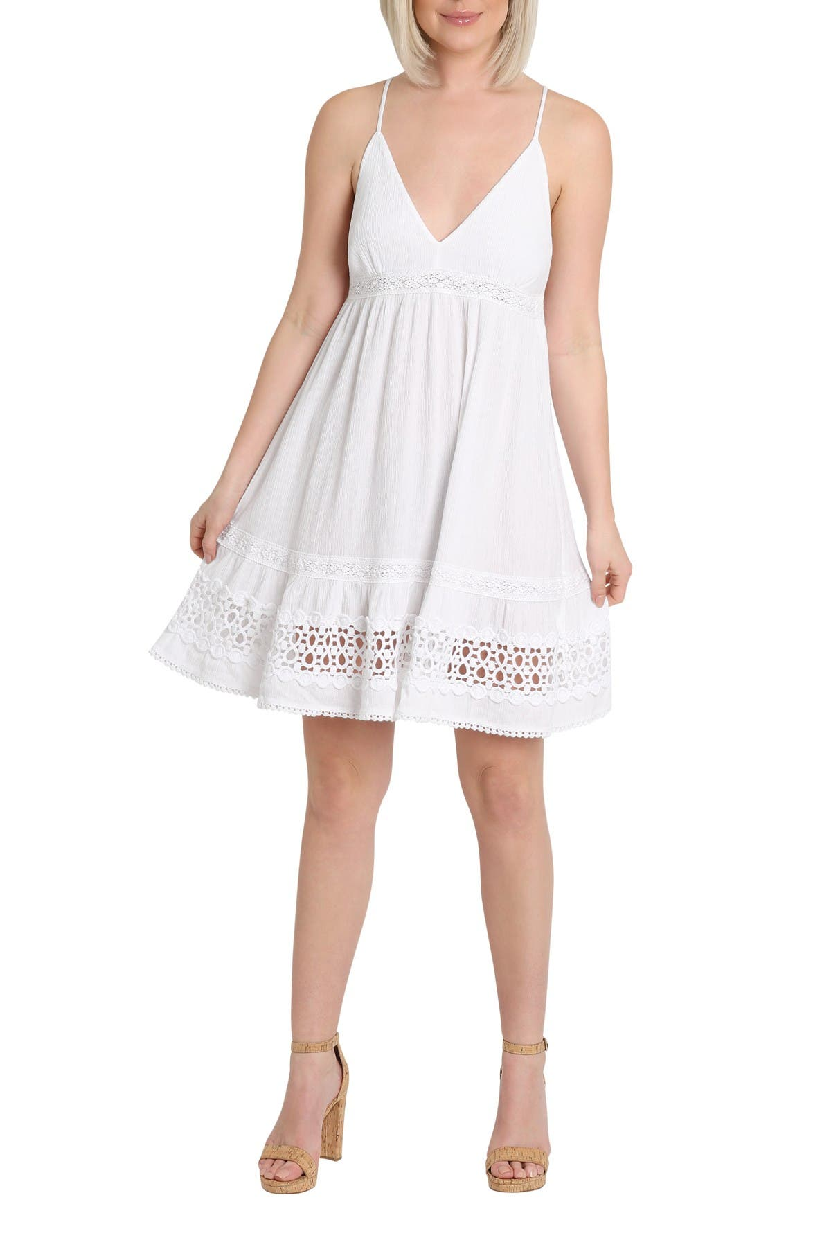 Image of Nanette Lepore Stella Spaghetti Crochet Dress