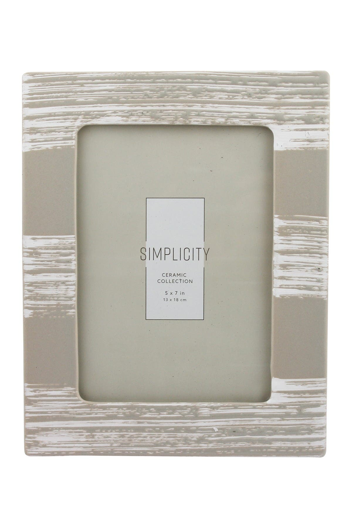 Image of Azzure Home 5x7 Taupe Ceramic Frame