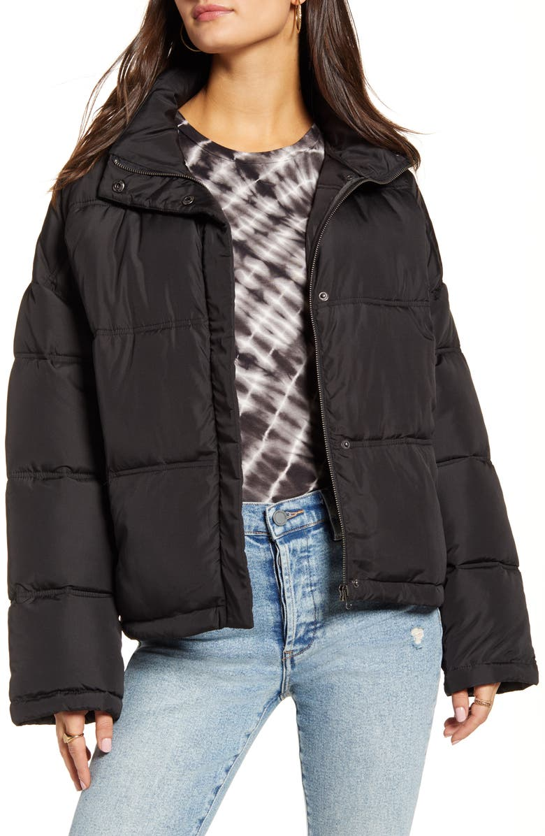THREAD & SUPPLY Puffer Jacket, Main, color, 001