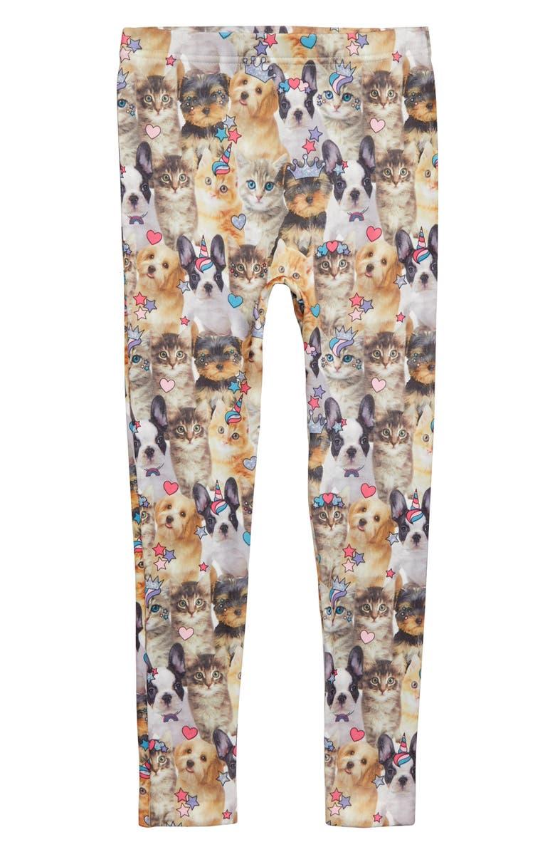 CAPELLI NEW YORK Cute Critters Leggings, Main, color, MULTI COMBO