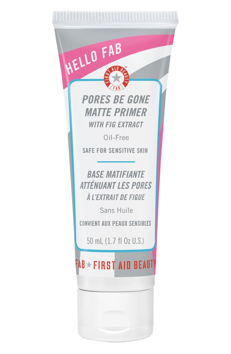 FIRST AID BEAUTY Hello FAB Pores Be Gone Matte Primer, Main, color, NO COLOR