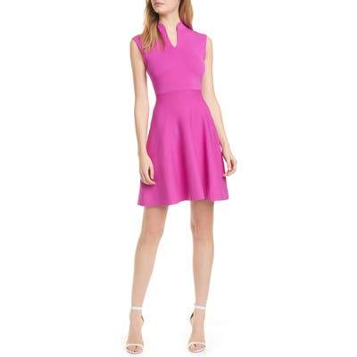 Ted Baker London Lliliee Sleeveless Knit Skater Dress, Pink