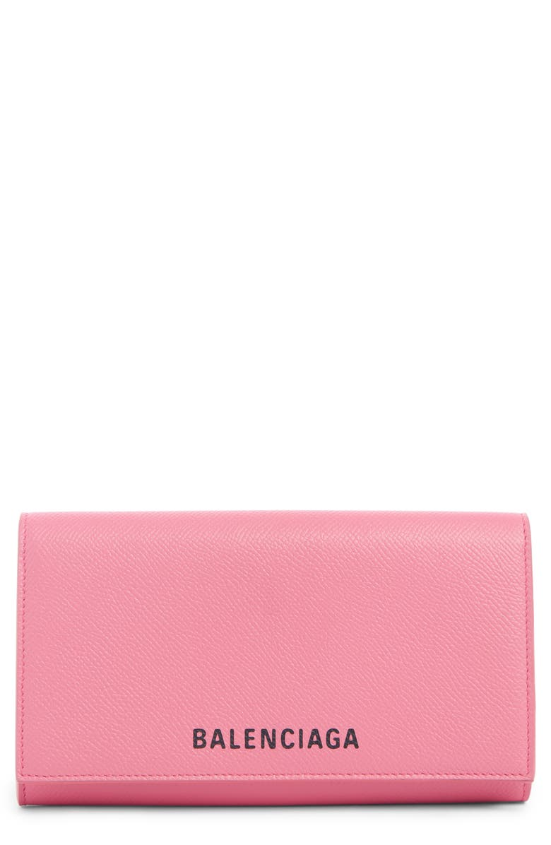 BALENCIAGA Ville Leather Phone Wallet on a Chain, Main, color, 696