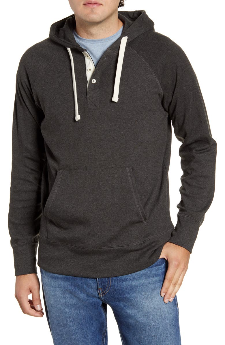 THE NORMAL BRAND Puremeso Regular Fit Pullover Hoodie, Main, color, CHARCOAL