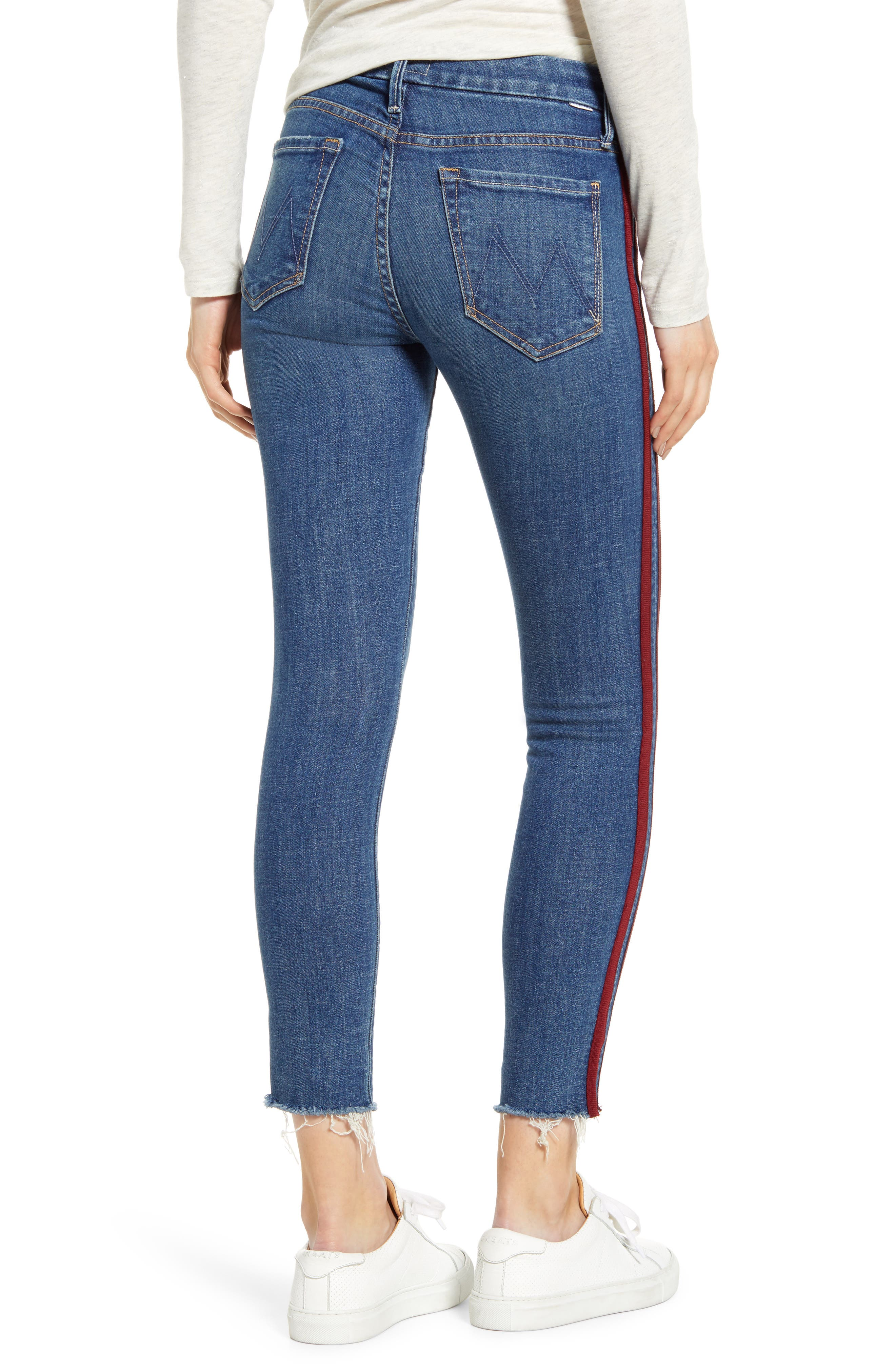 ,                             'The Looker' Frayed Ankle Jeans,                             Alternate thumbnail 9, color,                             420